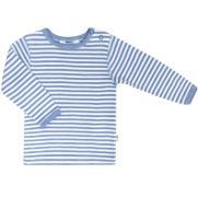 Trøje fra Joha i uld / silke - Cloud Stripe