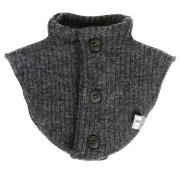 Halsedisse i Soft Wool fra Joha - m. knapper - Koksgrå