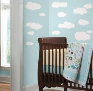 Hvide Skyer Wall Stickers