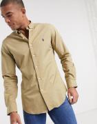 Polo Ralph Lauren - Slim Fit-poplin-skjorte med spillerlogo og knapper...