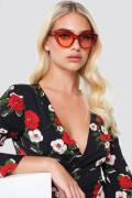 NA-KD Accessories Cat Eye Sunglasses - Red