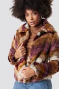 MANGO Fargo Coat - Brown,Multicolor