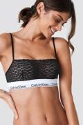 Calvin Klein Unlined Lace Bralette - Black