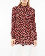 Ganni Shirt Printed Georgette Röd