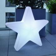 Star LED-dekorationsstjerne med ledning, 57x55cm