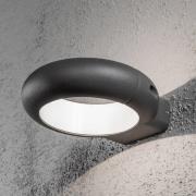 Rovigo ringformet udendørs LED-væglampe