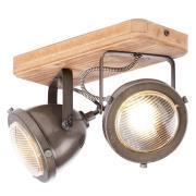 Carmen Wood - loftlampe i industrilook med 2 lys