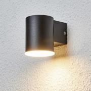 Enkelt LED-udendørsvæglampe Morena i sort