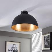 Lya smuk loftlampe, sort-guld