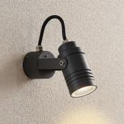 Udendørsvægspot Galina, mørkegrå, 15,4 cm
