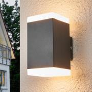 Hedda - kantet LED-udendørsvæglampe