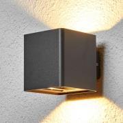 Grafitgrå LED-udendørsvæglampe Aaron