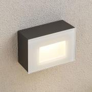 Jody udendørs LED-væglampe, 12 cm, kantet