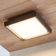 Udendørs loftlampe Birta med LED, kantet, 27 cm