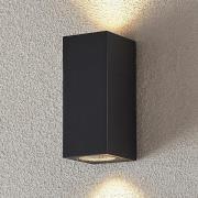 Udendørsvægspot Lavina, mørkegrå, GU10, 2 lys