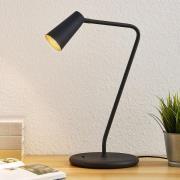 Lucande Angelina bordlampe, sort-guld