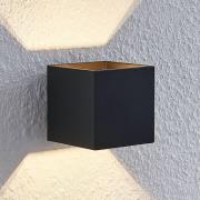 Lindby Mirza væglampe i aluminium, kantet, sort