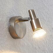 ELC Farida LED-spot, nikkel, 1 lyskilde