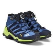 adidas Performance Blue and Green Terrex Mid Gortex Hiking Boots 29 (U...