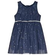 Jocko Navy Dress with Golden Dots 98 cm (2-3 år)