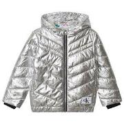 Calvin Klein Jeans Silver Padded Light Bomber Jacket 4 years