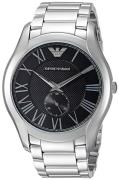 Emporio Armani Dress Herreur AR11086 Sort/Stål Ø43 mm