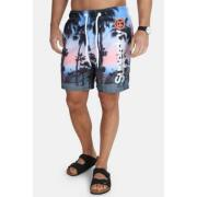 Super Dry Premium Neo Photo Swim Shorts Graffiti Wall