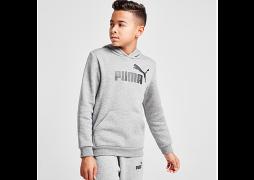 Puma     Core Logo Hoodie Junior - Grey - Kids