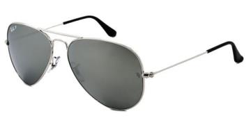 Ray-Ban RB3025 Aviator Large Metal Polarized Solbriller