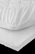 Faconsyet lagen Carmel i kæmmet bomuldspercale