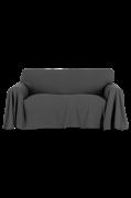 Betræk Odessa af bomuldschambray til 2-personers sofa