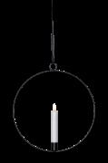 Indendørsdekoration Flamme ring, sort