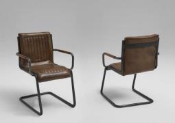 BODAHL Franco spisebordsstol m. armlæn, bøffellæder...