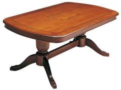 Mozart sofabord - valnøddebrunt træ (130x80)