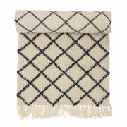 BLOOMINGVILLE gulvløber - natur uld/bomuld, rektangulær (...