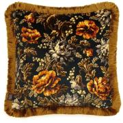 House of Hackney-Opia Cushion with Fringes Medium, Midnight