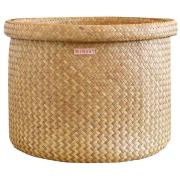 Mimou-Bliss Basket With Rolled Edge, Natural