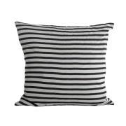 House Doctor pudebetræk stripes sort-grå
