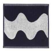 Lokki håndklæde mørkeblå/hvid 30x30 cm